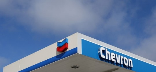 Chevron gas sign