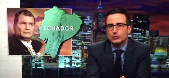 John Oliver rants against Rafael Correa