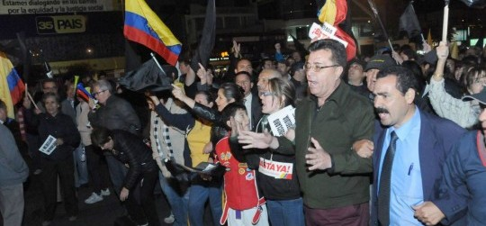 Protesters in Ecuador - Ecuador political news