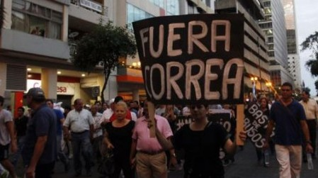 Fuera Correa - Rafael Correa - president of Ecuador