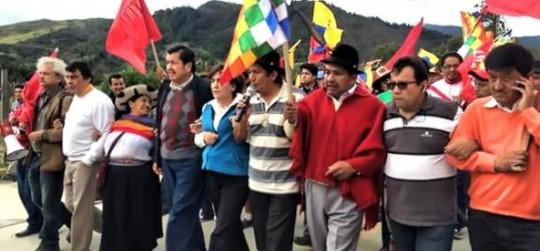 Ecuador 400 mile march - Ecuador political news